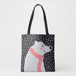 Bolsa Tote Feliz Natal - urso polar