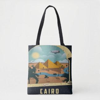 Bolsa Tote Férias do viagem da imagem do vintage do Cairo