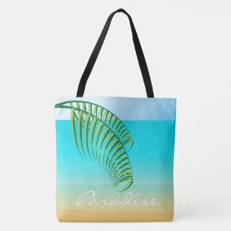 Bolsa Tote Férias tropicais da praia