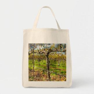 Bolsa Tote Fileiras das vinhas em Napa Valley Califórnia