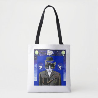 Bolsa Tote Filho do gato - sacola da paródia de Magritte