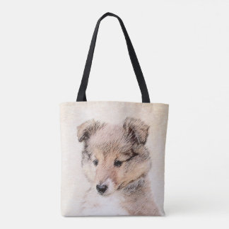 Bolsa Tote Filhote de cachorro do Sheepdog de Shetland que