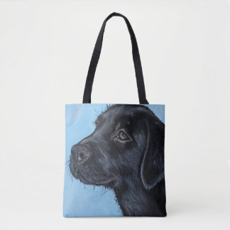 Bolsa Tote Filhote de cachorro preto de Labrador
