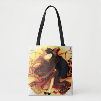 """Bolsa Tote filhote de cachorro vermelho """"beleza em um campo"""