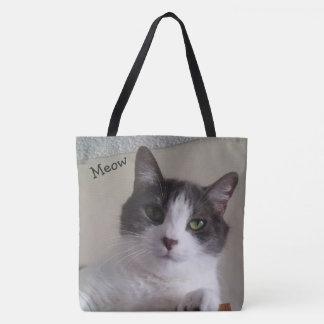 Bolsa Tote Fim bonito do gato acima da sacola da imagem