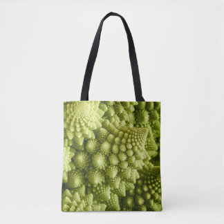 Bolsa Tote Fim do vegetal dos brócolos de Romanesco acima