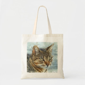 Bolsa Tote Fim impressionante do gato de gato malhado acima