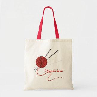 Bolsa Tote Fio para confecção de malhas e agulhas/saco