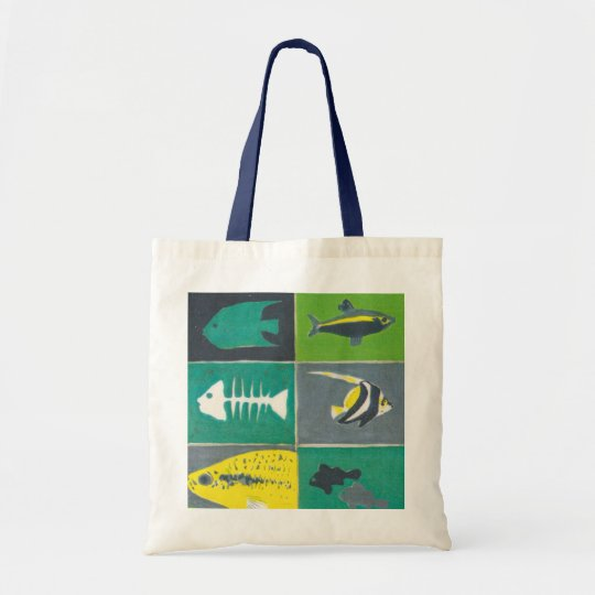 Bolsa Tote Fishes illustration