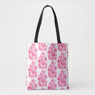 Bolsa Tote Flamingo cor-de-rosa de Paisley