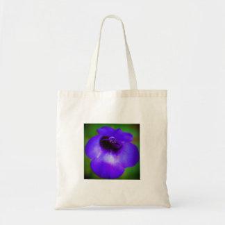 Bolsa Tote Flor azul violeta