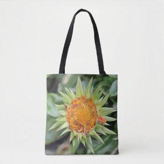Bolsa Tote Flor grande um la Van Gogh em uma sacola