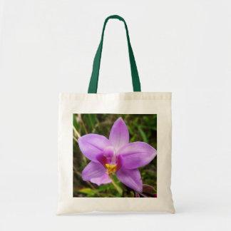 Bolsa Tote Flor tropical roxa da orquídea selvagem