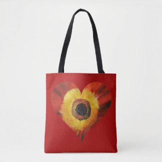 Bolsa Tote Flor vermelha HeartCustom da arte toda sobre -