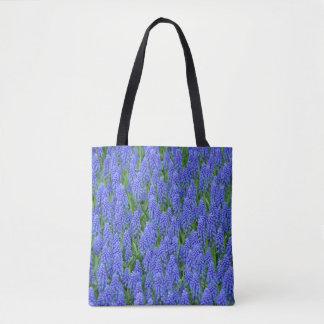 Bolsa Tote Flores azuis do muscari