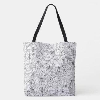 Bolsa Tote Flores brancas