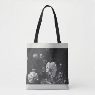 Bolsa Tote Flores brancas da anêmona