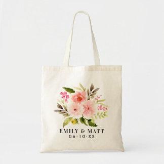 Bolsa Tote Flores | cor-de-rosa bem-vindas Wedding da
