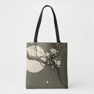 Bolsa Tote Flores da ameixa na noite por Ohara Koson elegante