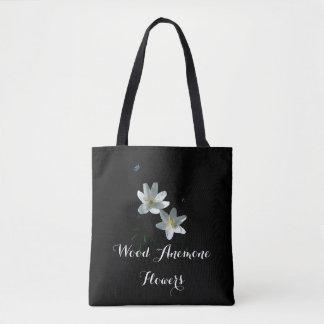 Bolsa Tote Flores da anêmona por todo o lado na sacola do