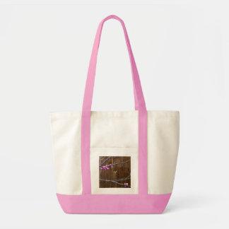 Bolsa Tote Flores da árvore de cereja e sacola de madeira de