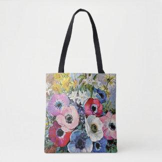 Bolsa Tote Flores das anêmonas de Odilon Redon - simbolismo