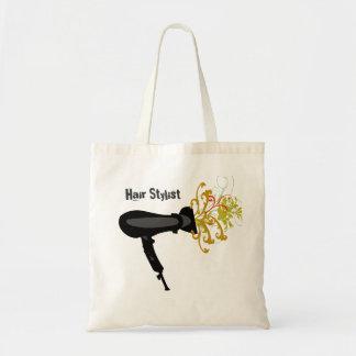 Bolsa Tote Flores de sopro do secador do cabeleireiro