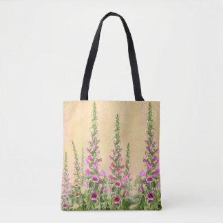 Bolsa Tote Flores do Foxglove