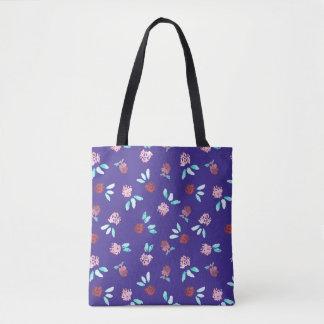 Bolsa Tote Flores do trevo por todo o lado na sacola do meio