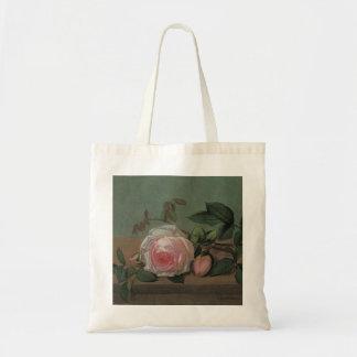 Bolsa Tote Flores em uma borda por Ottesen, do vintage vida