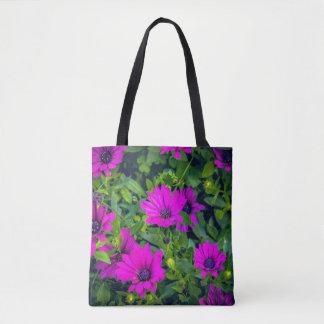 Bolsa Tote Flores roxas