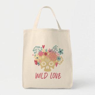 Bolsa Tote Flores selvagens do amor