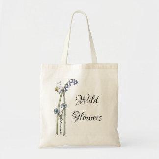 Bolsa Tote Flores selvagens pintados mão