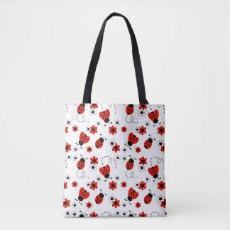Bolsa Tote Flores vermelhas da senhora Desinsetar Floral