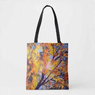 Bolsa Tote Folhas artísticas bonito da queda com luz do sol