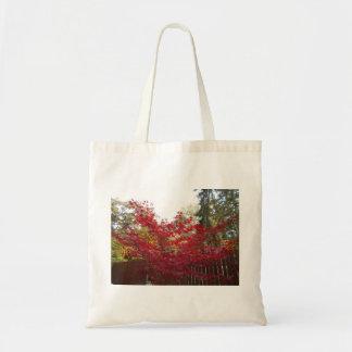 Bolsa Tote Folhas de bordo do vermelho do outono
