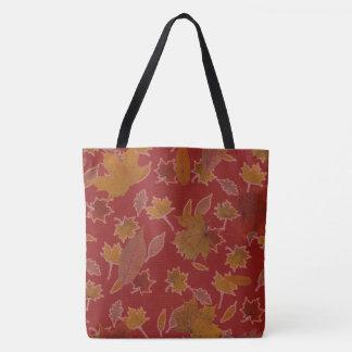 Bolsa Tote Folhas de outono douradas na cor feita sob