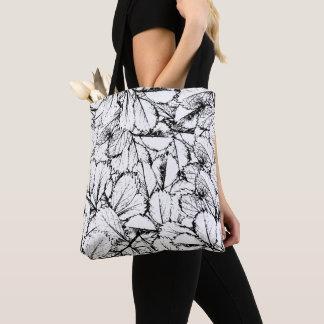 Bolsa Tote Folhas do branco