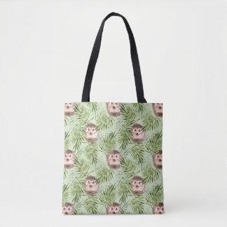 Bolsa Tote Folhas do ouriço e do verde