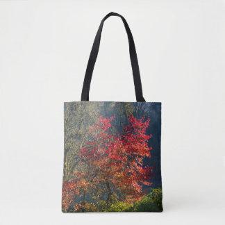 Bolsa Tote Folhas do vermelho