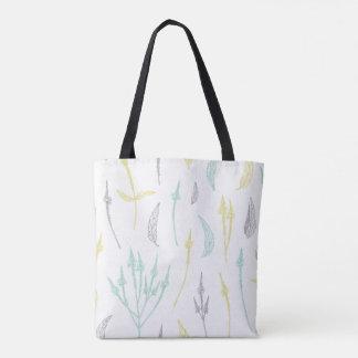 Bolsa Tote Folhas e sacola bonitas dos galhos
