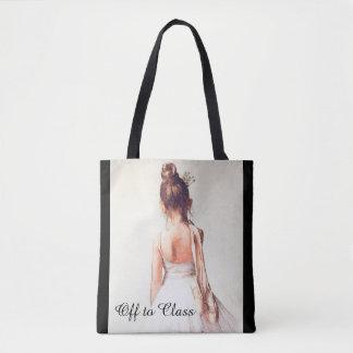 Bolsa Tote Fora à classe:  Uma sacola da dança do balé
