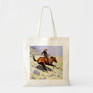 Bolsa Tote Forças armadas da cavalaria do vintage, vaqueiro