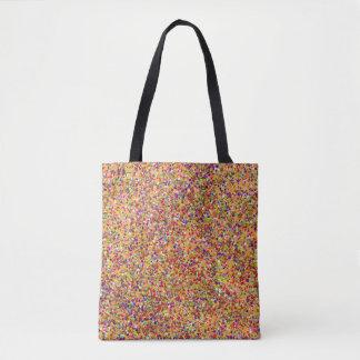 Bolsa Tote Forma #3 de pintura multicolorido do brilho do