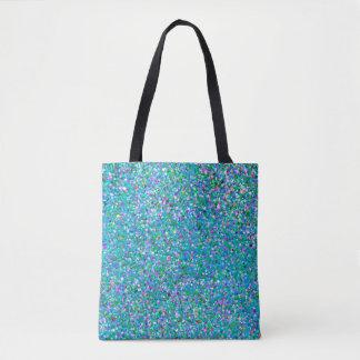 Bolsa Tote Forma #5 de pintura multicolorido do brilho do