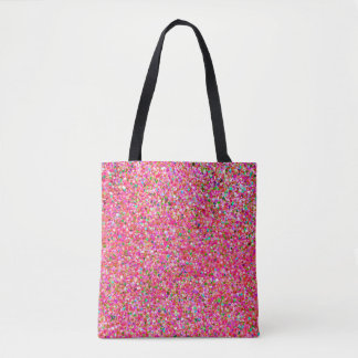 Bolsa Tote Forma #7 de pintura multicolorido do brilho do
