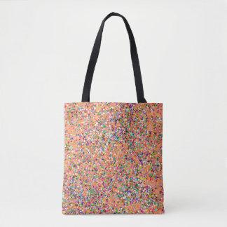 Bolsa Tote Forma #8 de pintura multicolorido do brilho do