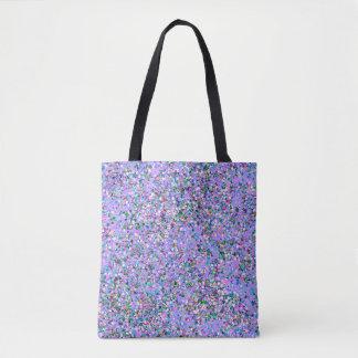 Bolsa Tote Forma #9 de pintura multicolorido do brilho do