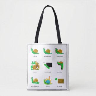 Bolsa Tote Forma do caracol