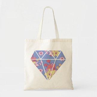 Bolsa Tote Forma moderna do diamante dos padrões florais